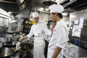 長岡グランドホテル 中国料理厨房で研修!